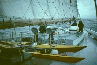 Vynecks on Norma and Gladys sailing schooner